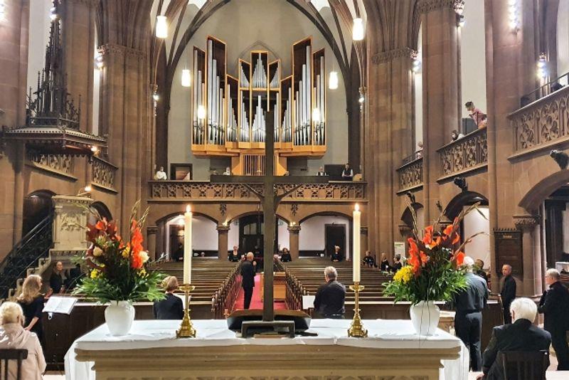 Kurt-Thomas-Kammerchor   Chorkonzert unter COVID-19-Bedingungen   Dreikönigskirche