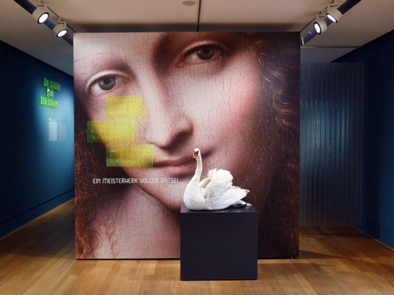 Der Leda Code. Ein Meisterwerk voller Rätsel, Ausstellungsansicht, Foto Bernd Schölzchen, MHK