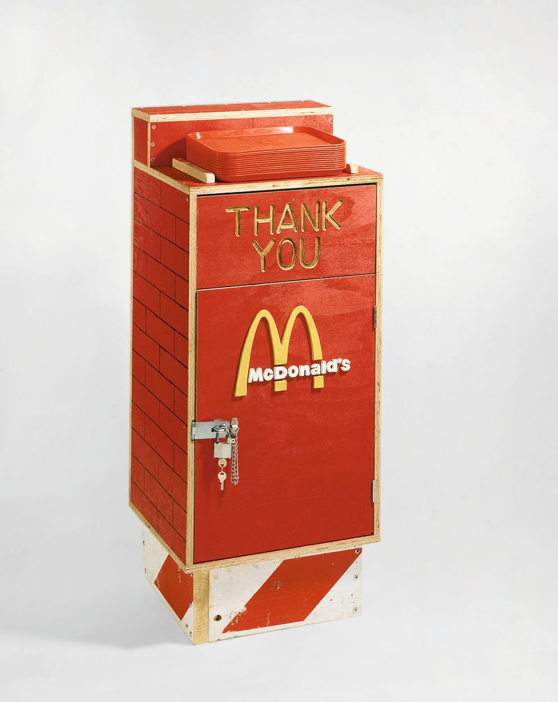 Tom Sachs, Nutsy's McDonald's Trash Bin, 2001, © Tom Sachs