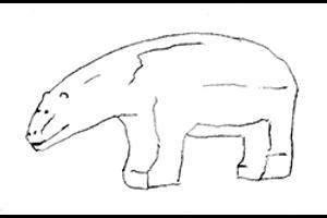 Schieferamulett mit Tierfiguren