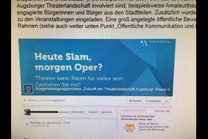 Auf Wiedervorlage: Die Entwicklung der Augsburger Theaterlandschaft